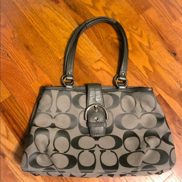 Coach Handbags - Gray Authentic Coach Purse